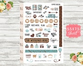 Coffee Break - Deco Planner Stickers - Deco Stickers - Decorative Stickers - Erin Condren, Happy Planner and Personal Planners