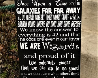 We do geek sign, Geek, In This House We Do Geek, Geek Wood sign, Home Decor, Harry Potter, Lord of the Rings, Star Wars, Star Trek