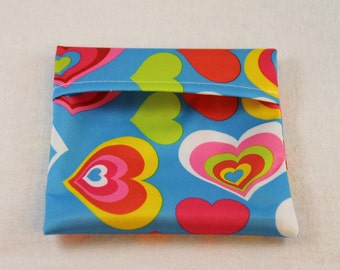 Reusable Pad Wrapper - Hearts -