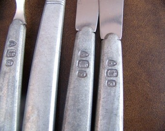 vintage pewter utensils