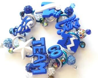 Cheerleader bracelet/Beadiebracelet