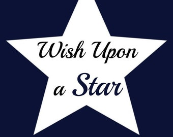 Instant Download / Wish Upon A Star / Star Printable / 8x10 Digital Download / Digital Art / Home Decor / Wall Art / Printable