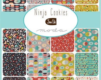Ninja Cookies Jenn Ski  for  Moda Fabrics - Layer Cake M30540LC