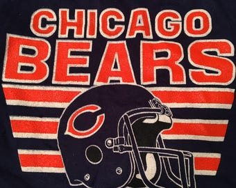 Vintage 80s Chicago Bears Soft Sweatshirt Size Small Football Throwback NFL Sports Memorabilia