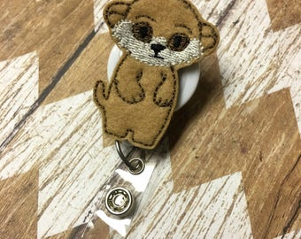 Meerkat Badge Reel, Badge Clip, Retractable Name Badge, ID Holder, Teacher ID Clip, Badge Pull