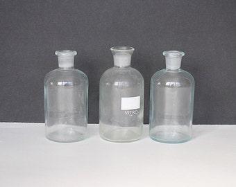 Lab Glass - Vintage Chemistry Glass - Science Decor - Laboratory Glass - Chemistry Decor - Apothecary Bottles - Wheaton Glass - Unique Vases