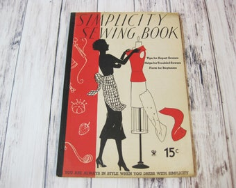 Simplicity Sewing Book, 1935, Sewing Instructions, Vintage Sewing Book
