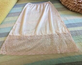 Vassarette Pink Lacy Half Slip