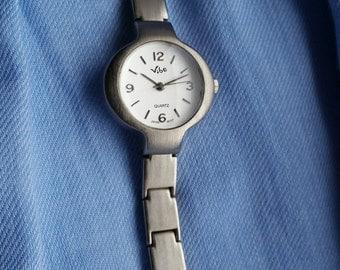 Ladies Brushed Stainless Steel Bracelet Watch, 1990s Quartz Watch