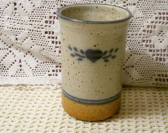 Hand Thrown Pottery Container / Pottery Vase