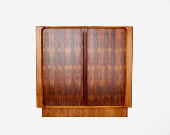 Vintage Rosewood Danish Modern Highboy Dresser by BERNHARD PEDERSEN