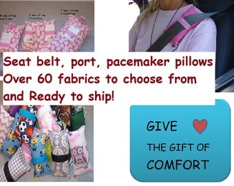 Port Pillow, Porta pillow, Port-a-Cath pillow, seat belt cushion, Chemo Port, Breast Cancer pillow, Green, Portacath Pillows