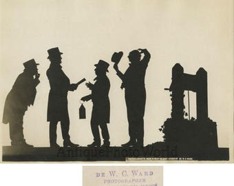 Little Minister silhouette theater shadow play antique photo Bray Gilbert studio