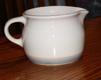 Pfaltzgraff  Aura Pink Pattern Stoneware Creamer/Pitcher - Vintage