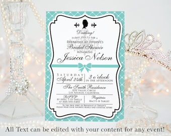 """Breakfast at Tiffany's Invitation 
