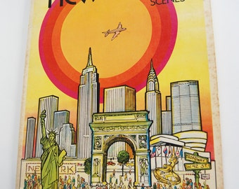 Vintage Coloring Book, New York Scenes