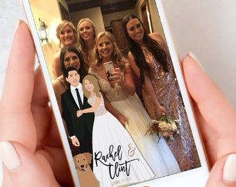 Wedding Snapchat Geotag Filter Design - Couple Portrait Design