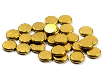40 Pcs. Solid Raw Brass 2x8 mm Round Disc Findings