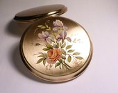 Gifts for her vintage fashion gifts for her Stratton compacts floral compacts womens accessories