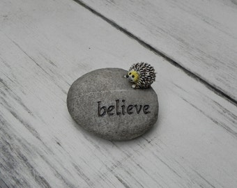 Fairy Garden Accessories believe Stone Pebble miniature hedgehog for fairy garden accessories, miniature garden accessory, terrarium supply