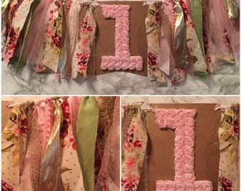 Shabby chic highchair banner