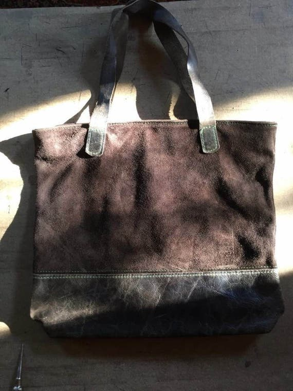 Brown Shoulder Bag,15 inch Laptop Bag, Tote Bag, Handmade Office Bag, Leather Shoulder Bag,