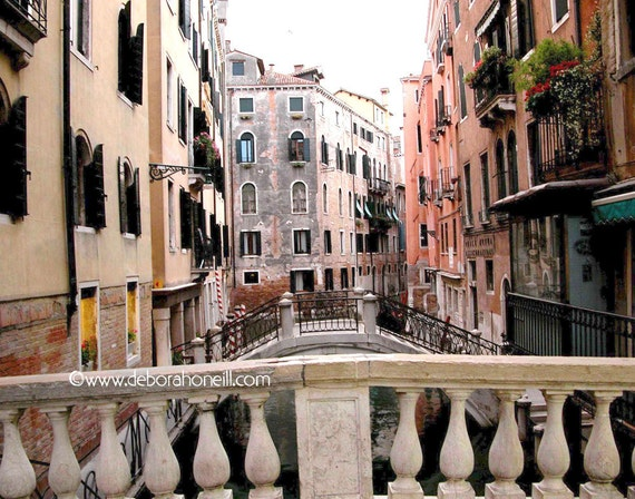 "Venice Photography - Venice Italy buildings bridges canal wall art ""Venice Bridges"""