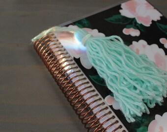 Mint Yarn Planner Tassel/ Tassel Keychain/ Happy Planner /Erin Condren