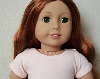 Blush cropped Tshirt for 18 inch dolls by The Glam Doll