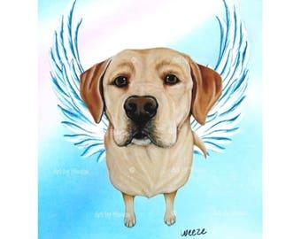 Yellow Lab - Yellow Lab Angel - Yellow Labrador Retriever - Labs - Dog Angels - Guardian Angels - Pet Memorial - Rainbow Bridge - Weeze Mace