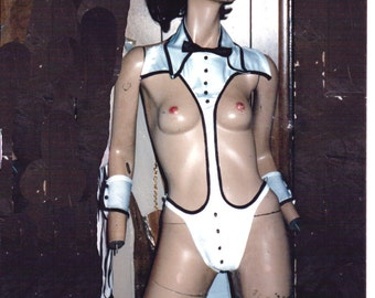 Full tuxcido suit set with top hat and thong rear