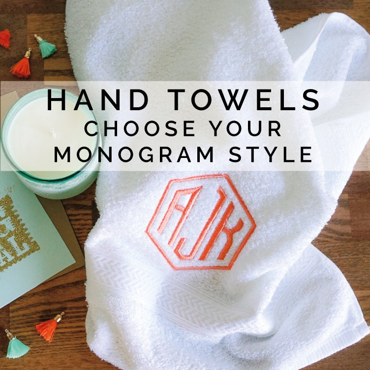 Personalized Hand Towels Set Of 2 Newlywed Christmas Gift