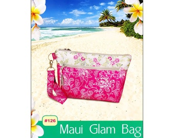 "Pattern ""Maui Glam Bag"" by Pink Sand Beach Designs (#126) Paper Pattern"