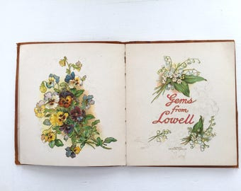 """Antique Book """"Gems From James Russell Lowell"""" 1904"""