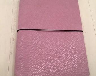 JournalJot (A5) - Rosey Posey - Leather Traveler's Notebook/Fauxdori