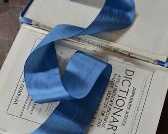 royal denim blue silk ribbon