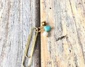 Valentines Day Sale Turquoise Heart paper clip Planner clip Filofax Midori Kikki K Happy Planner