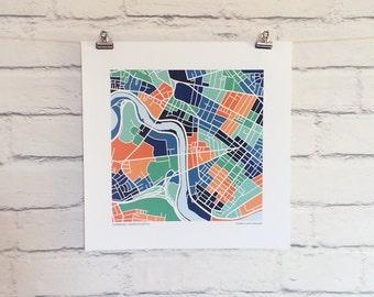 Cambridge Massachusetts Map Print