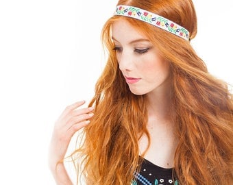 FESTIVAL CAPSULE COLLECTION // Bianca Pair of Embroidered Headbands. festival fashion, hair accessories, hippie headband