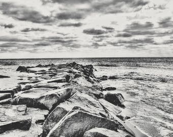 Cape May NJ Photography, Atlantic Ocean, Home Decor, New Jersey Shore, Beach Nautical, New Jersey, Art, Cabin Decor, Shoreline Art, NJ photo