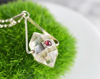 Quartz Pendulum Necklace - Chakra Necklace - Stone Pendant Necklace - Fine Stone Necklace - Necklace Customizable Length