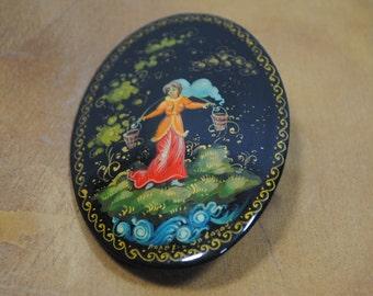 Victorian Lady Pin