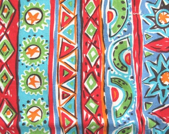 WILD ABSTRACT STRIPES Vintage Cotton Quilting-Weight Fabric