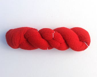 Destash Lace Weight Scottish Cashmere Recycled Yarn, Scarlet Red, 440 Yards