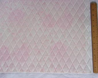 Double Sided Quilted Fabric with Extra Heavy Stabilizer for Sewing Purses, Boxes, Bowls in a Pink Fairy Frost