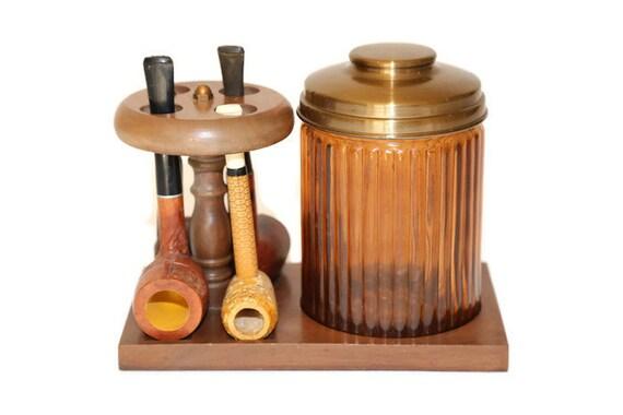 Dun Rite Tobacco Jar Amp Pipe Set Dun Rite Pipe Rack And Jar