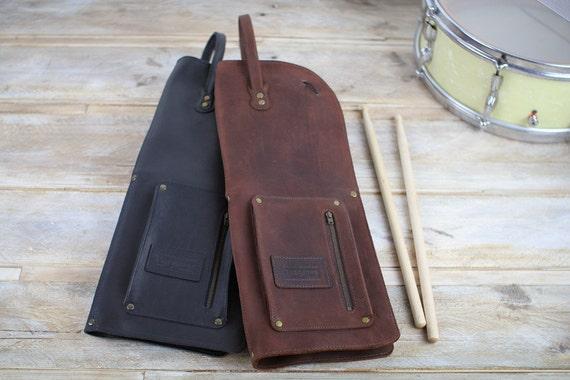 Leather Drumstick Bag, Vintage Style