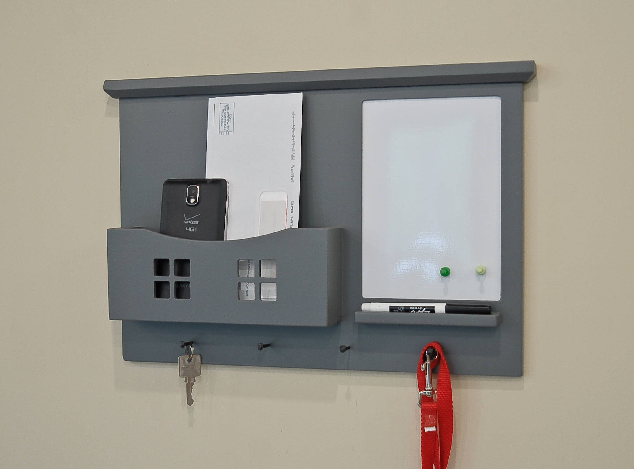 Mail and key organizer wall organizer mail holder key - Mail holder and key rack ...