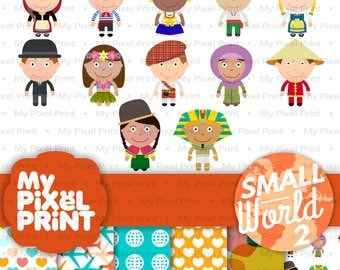 Children of the world clipart – Etsy