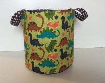 Toy or Laundry Bin 'Dinosaurs' green-brown